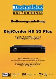 bed_anl_DigiCorder HD S2 Plus_V2_20090225.qxp - AustriaSat