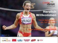 Verbandsbeitrag - Swiss Olympic