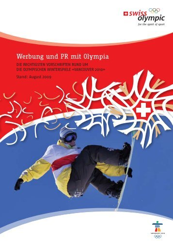 Werbung und PR mit Olympia - Swiss Olympic