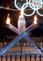Le Code de Conduite de Swiss Olympic