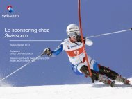 Le sponsoring chez Swisscom - Swiss Olympic