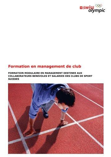 Formation en management de club - Swiss Olympic