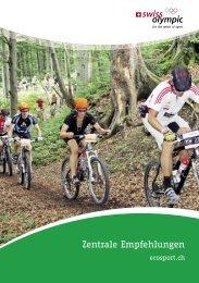 Zentrale Empfehlungen ecosport.ch - Swiss Olympic
