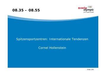 Spitzensportzentren: Internationale Tendenzen Cornel Hollenstein ...