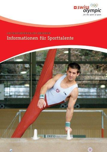 Informationen für Sporttalente - Swiss Olympic
