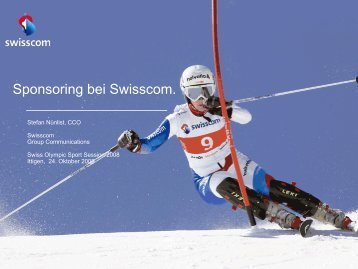 Sponsoring bei Swisscom. - Swiss Olympic