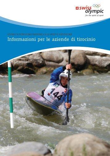 Informazioni per le aziende di tirocinio - Swiss Olympic