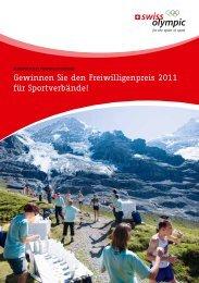Gewinnen Sie den Freiwilligenpreis 2011 für ... - Swiss Olympic