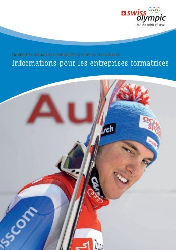Informations pour les entreprises formatrices - Swiss Olympic