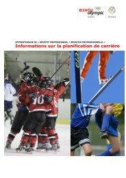 Informations sur la planification de carrière - Swiss Olympic