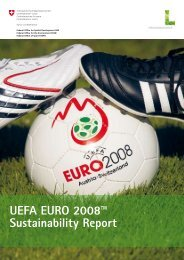 UEFA EURO 2008™ Sustainability Report - Bundesamt für Sport ...