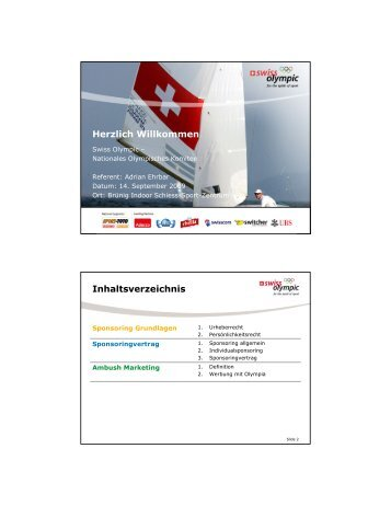 (Microsoft PowerPoint - Pr\344sentation ... - Swiss Olympic