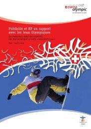 Publicité et RP en rapport avec les Jeux Olympiques - Swiss Olympic