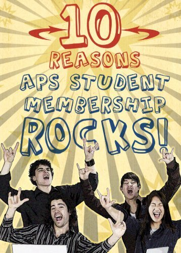 Student Membership - American Physical Society