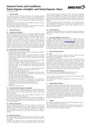 General Terms and Conditions Swiss-Express