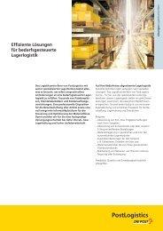 Effiziente Lösungen für bedarfsgesteuerte Lager logistik - Die ...