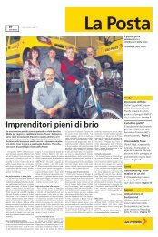Imprenditori pieni di brio - Die Schweizerische Post