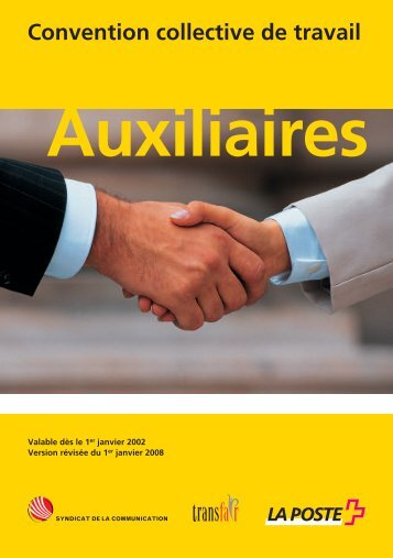 Convention collective de travail Auxiliaire (PDF ... - La Poste Suisse