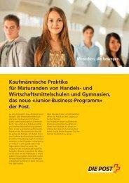 Kaufmännisches Praktikum - Die Schweizerische Post