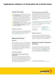 Explications concernant la facture clientLe lien est ouvert dans une ...