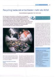 Recycling bedeutet entschieden mehr als Abfall - Swiss Recycling