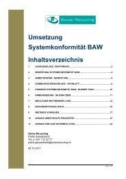Systemkonformität VKS - Swiss Recycling