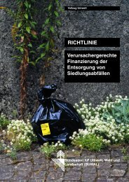 Richtlinie Verursachergerechte Finanzierung der ... - Bafu - admin.ch