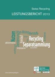 Leistungsbericht - Swiss Recycling