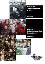 Analyse de la composition des ordures 2001/02 - Bafu - admin.ch