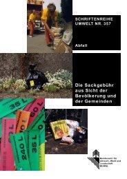 Die Sackgebühr aus Sicht der Bevölkerung und ... - Bafu - admin.ch