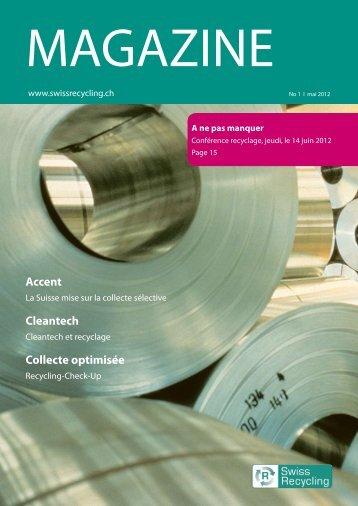 Magazine No. 1, mai 2012 (pdf, 915.3KB) - Swiss Recycling