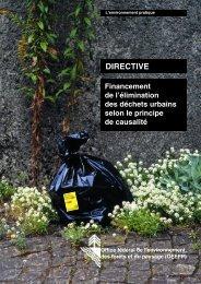 Financement de l'élimination des déchets urbains ... - Bafu - admin.ch