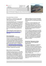 Stand der TVA-Revision - Newsletter 2011 - BAFU - Swiss Recycling