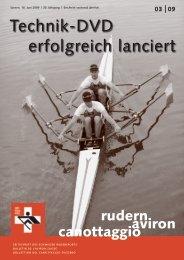 Rudern-Aviron-Canottaggio 3/2009 - Schweizerischer Ruderverband