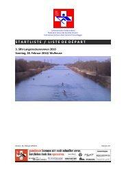 Startliste / liste de départ (Stand 24.02.2010) - Schweizerischer ...