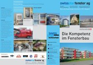 Die Kompetenz im Fensterbau - Swissstarfenster.ch