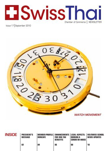 WATCH MOVEMENT - SwissThai Chamber of Commerce
