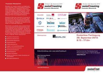 Fachtagung Faszination Messtechnik - swissT.meeting.ch