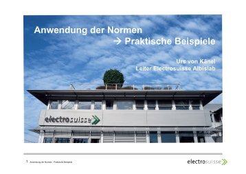 Anwendung der Normen → Praktische Beispiele - swissT.meeting.ch