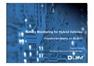 Battery Monitoring for Hybrid Vehicles - swissT.meeting.ch