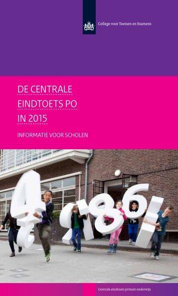 DE centrale EINDtoets PO in 2015