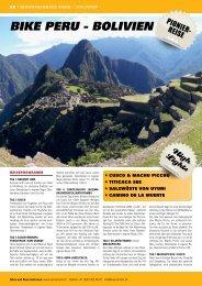 bike Peru - boliVien - SwissTrails