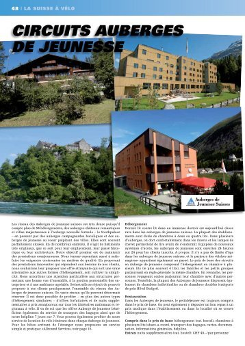 circuitS auBergeS de jeuneSSe - SwissTrails
