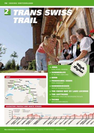 TRANS SWISS TRAIL - SwissTrails