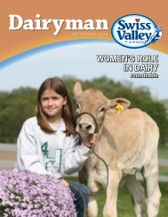 WOMEN'S ROLE IN DAIRY - Swiss Valley Farms