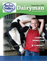"CHARLIE HAMILTON & ""CHEERY"" - Swiss Valley Farms"