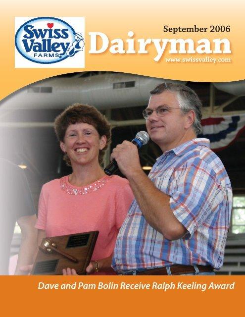 September 2006 Dave and Pam Bolin Receive Ralph Keeling Award