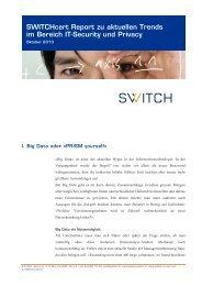 SWITCHcert Report zu aktuellen Trends im Bereich IT-Security und ...