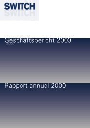 Geschäftsbericht 2000 - Switch