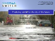 Session 7a Predicting rainfall presentation - SWITCH - Managing ...